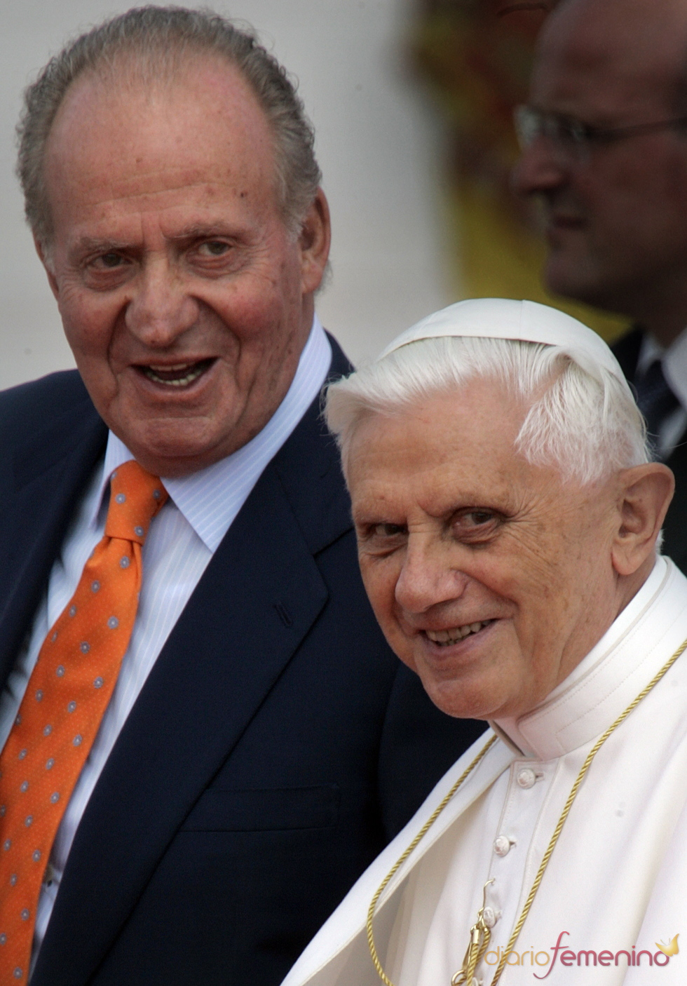 El Rey Juan Carlos con el Papa Benedicto XVI