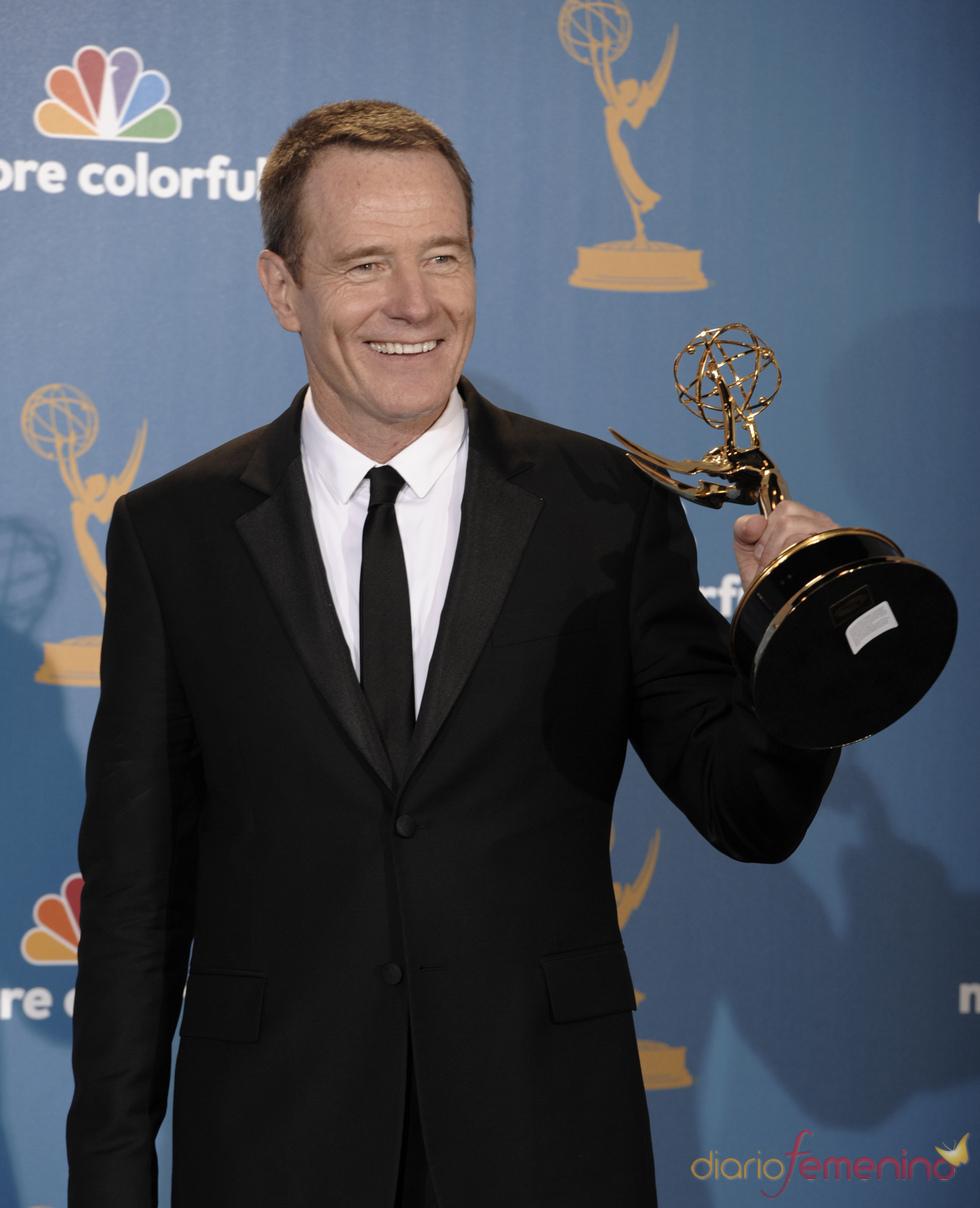 Vince Gilligan, protagonista de 'Breaking Bad', con un Emmy