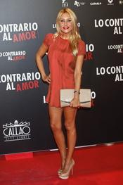 Berta Collado en el estreno de 'Lo contrario al amor' en Madrid