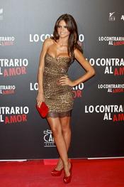 Romina Belluscio en el estreno de 'Lo contrario al amor' en Madrid