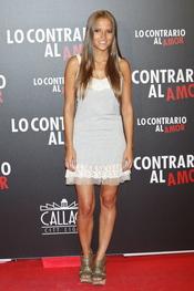 Ana Fenández en el estreno de 'Lo contrario al amor' en Madrid