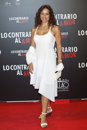 Isabel Serrano en el estreno de 'Lo contrario al amor' en Madrid