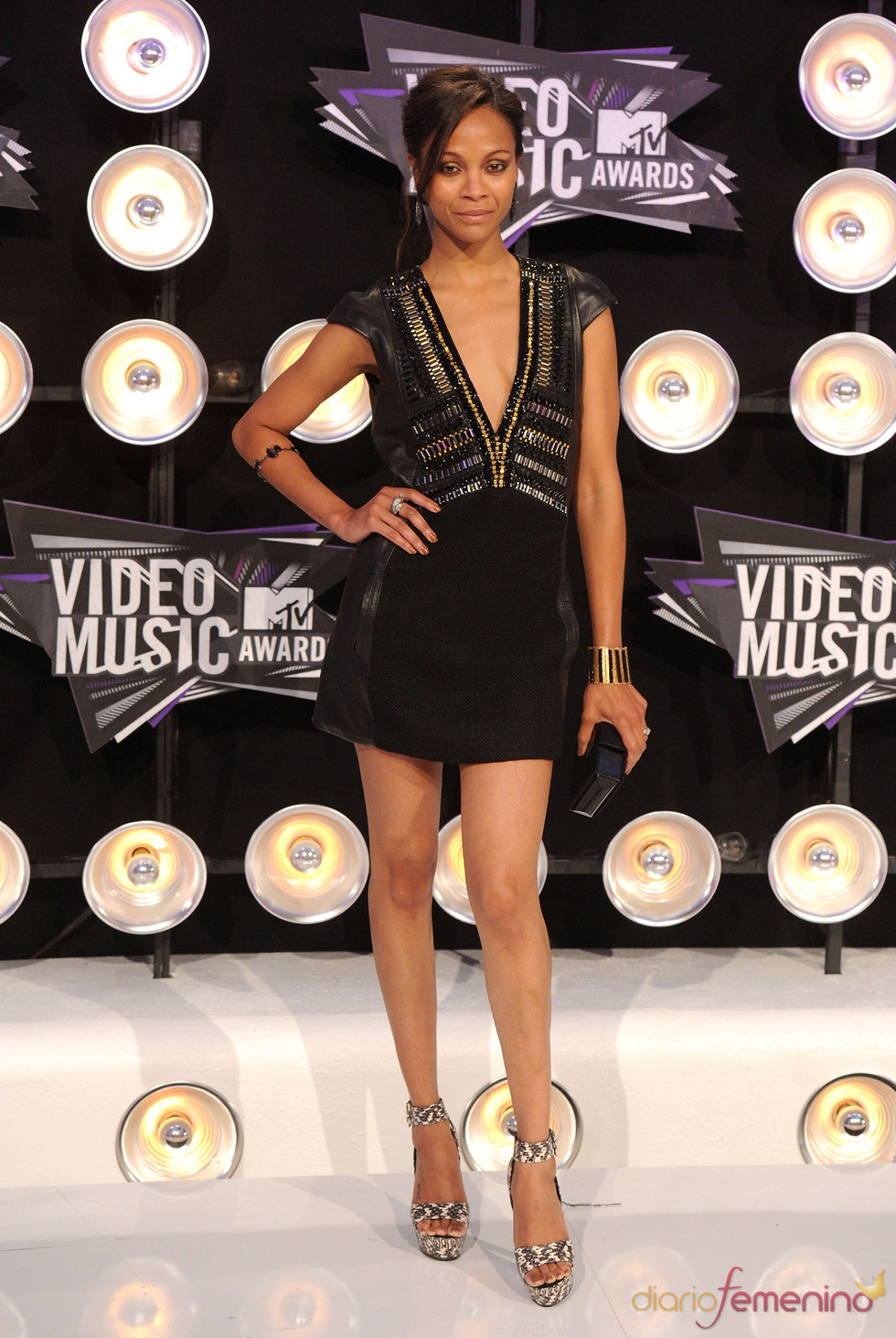 Zoey Saldaña en la gala de los MTV Video Music Awards