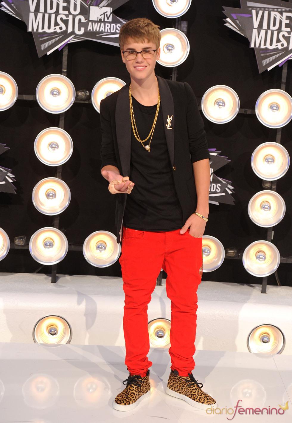 Justin Bieber en la gala de los MTV Video Music Awards