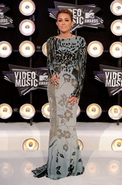 Miley Cyrus en la gala de los MTV Video Music Awards