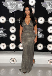 Kim Kardashian en la gala de los MTV Video Music Awards