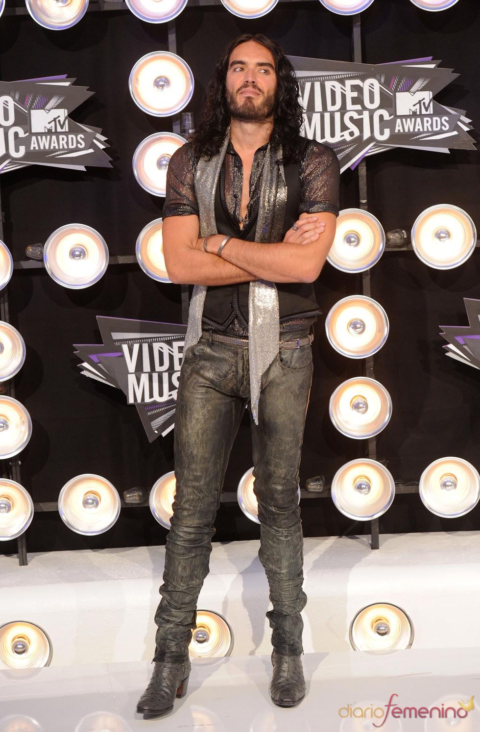 Russell Brand en la gala de los MTV Video Music Awards