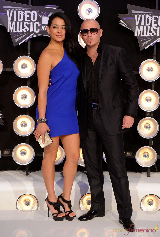 Pitbull en la gala de los MTV Video Music Awards