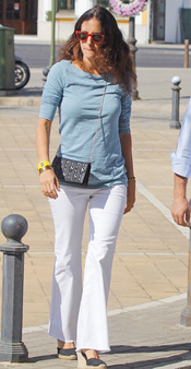 Carolina Herrera en el funeral de Maleni Loreto en Sevilla