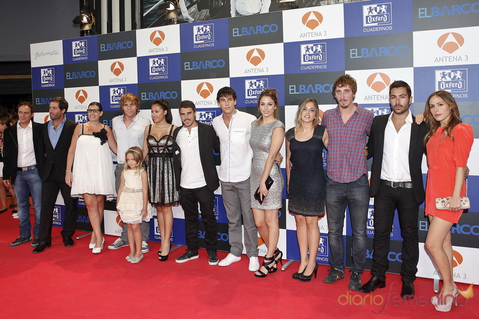 El reparto de 'El Barco' en el estreno de la segunda temporada en Madrid
