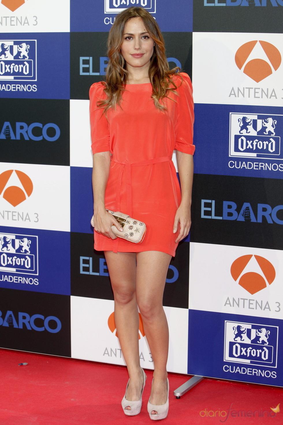 Irene Montala en el estreno de la segunda temporada de 'El Barco' en Madrid