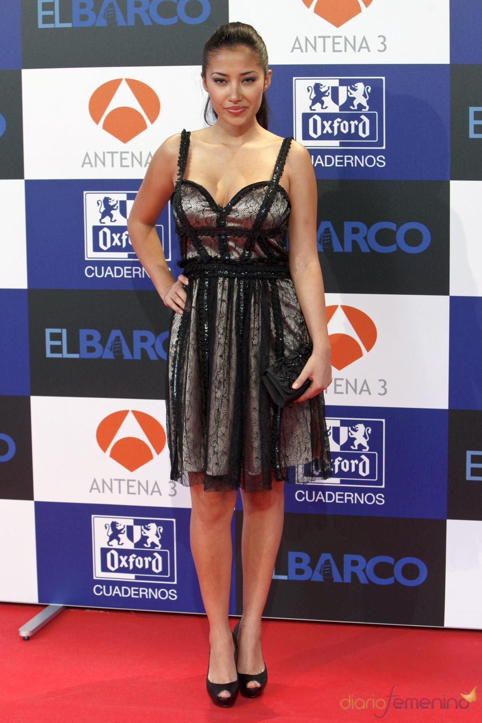 Gisselle Calderón en el estreno de la segunda temporada de 'El Barco' en Madrid