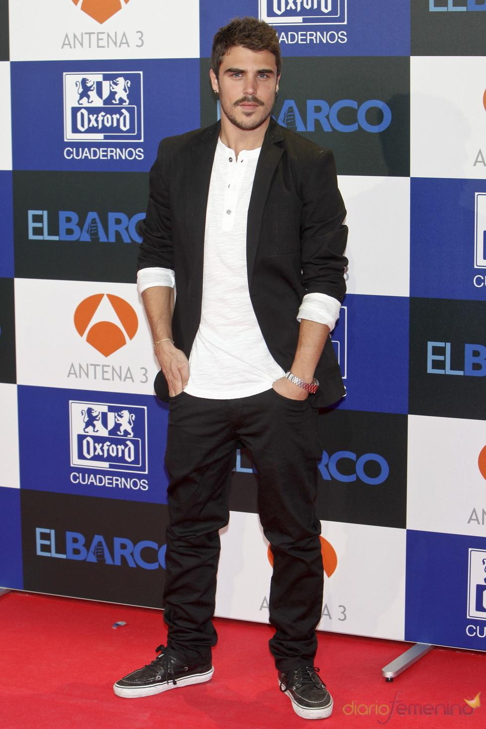 Javier Hernández en el estreno de la segunda temporada de 'El Barco' en Madrid