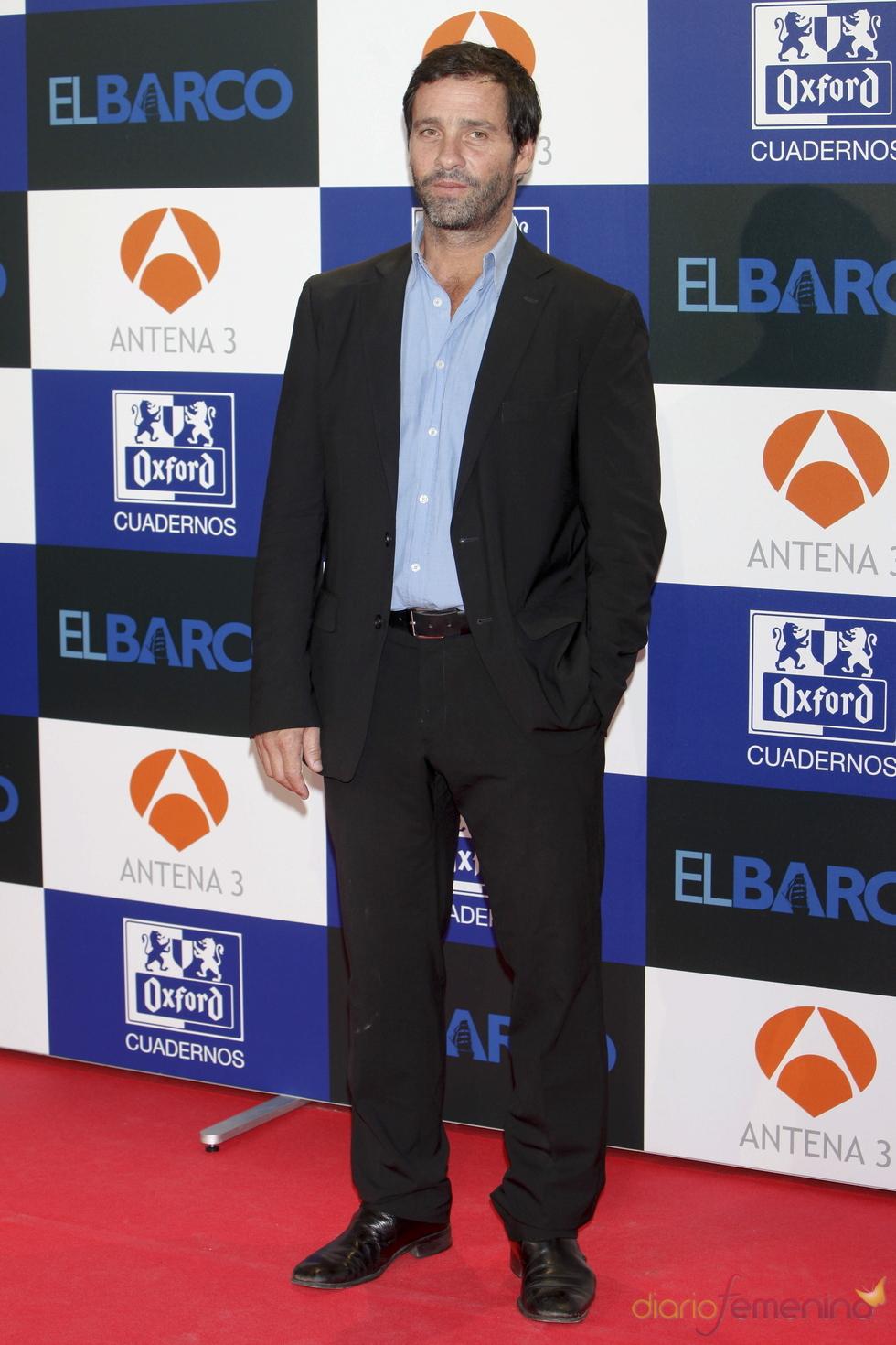 Juan Pablo Shuk en el estreno de la segunda temporada de 'El Barco' en Madrid