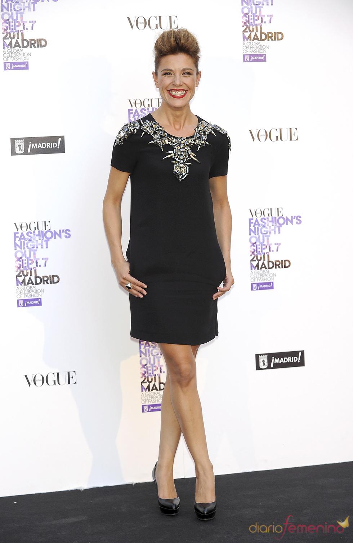 Raquel Sánchez durante la Vogue Fashion Night Out Madrid 2011