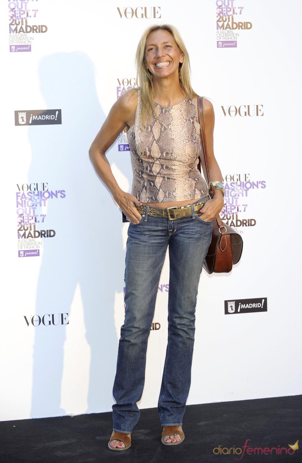 Marta Robles durante la Vogue Fashion Night Out Madrid 2011