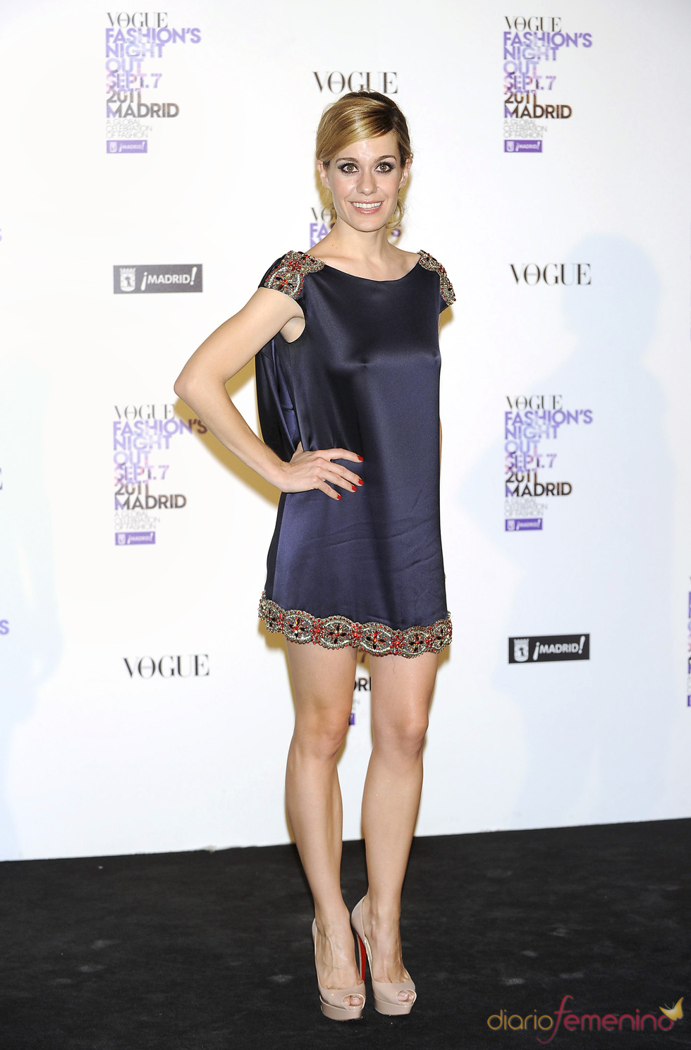 Alexandra Jiménez durante la Vogue Fashion Night Out Madrid 2011