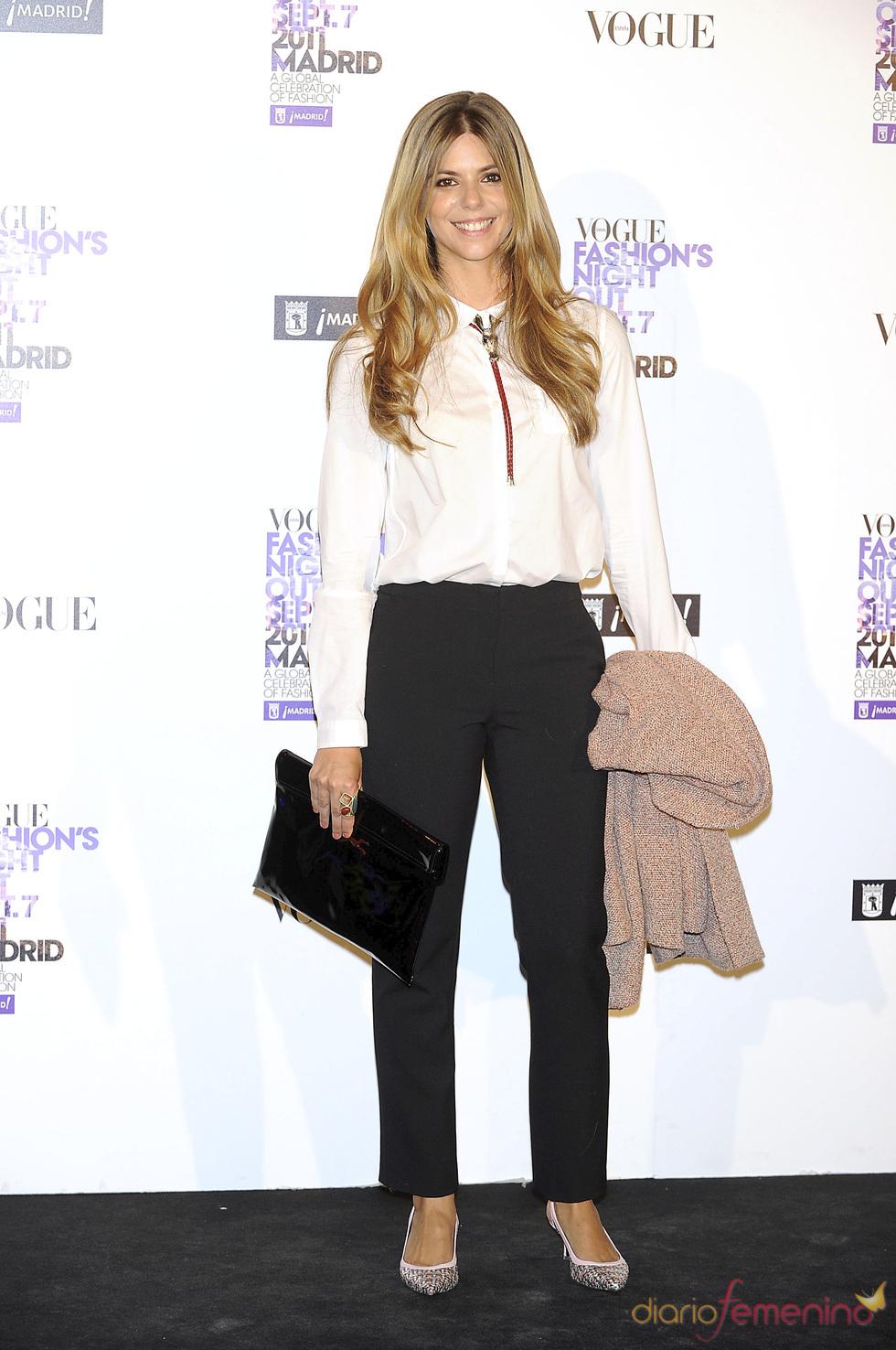 Manuela Velasco durante la Vogue Fashion Night Out Madrid 2011