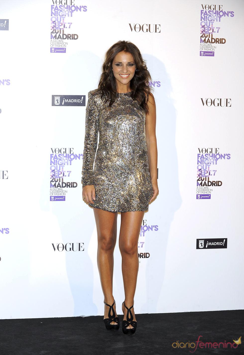 Paula Echevarría durante la Vogue Fashion Night Out Madrid 2011