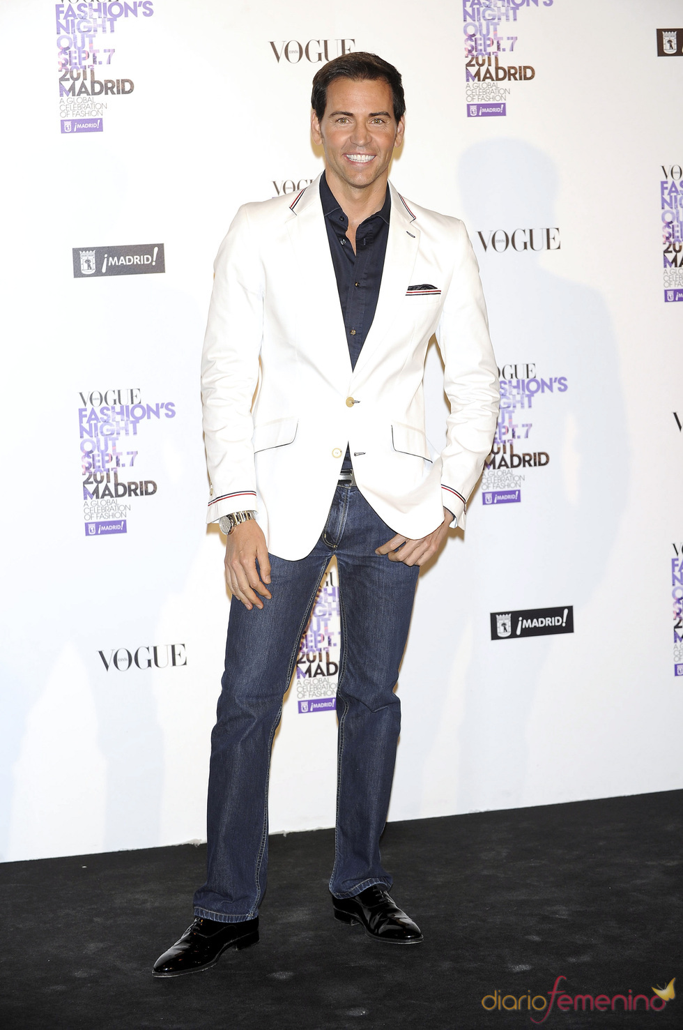 David Meca durante la Vogue Fashion Night Out Madrid 2011