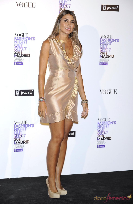 Silvia Casas durante la Vogue Fashion Night Out Madrid 2011