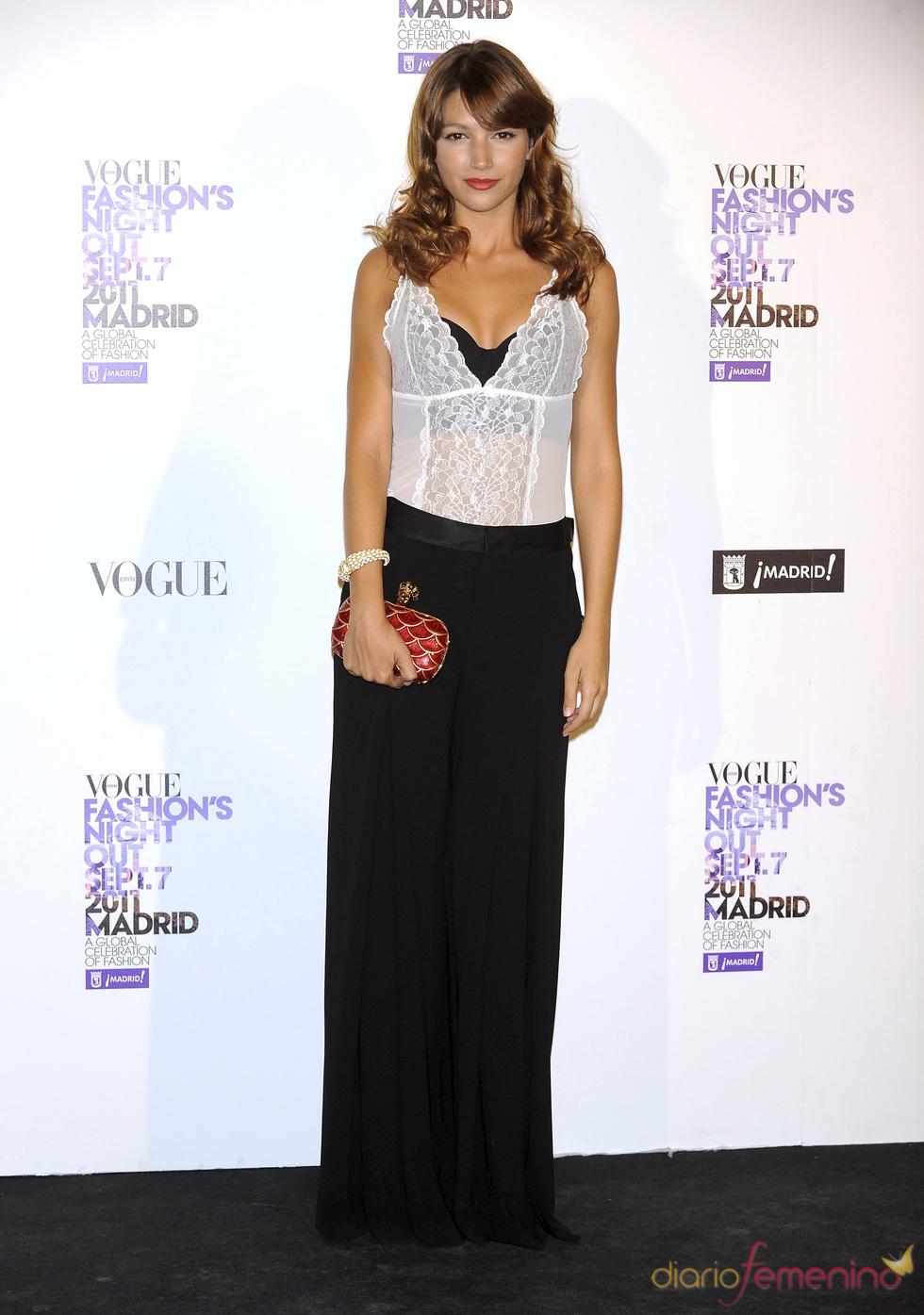 Úrsula Corberó durante la Vogue Fashion Night Out Madrid 2011
