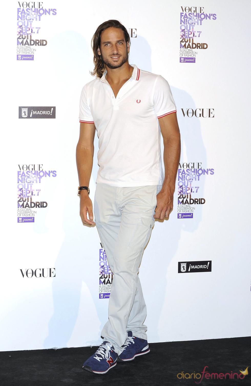 Feliciano López durante la Vogue Fashion Night Out Madrid 2011