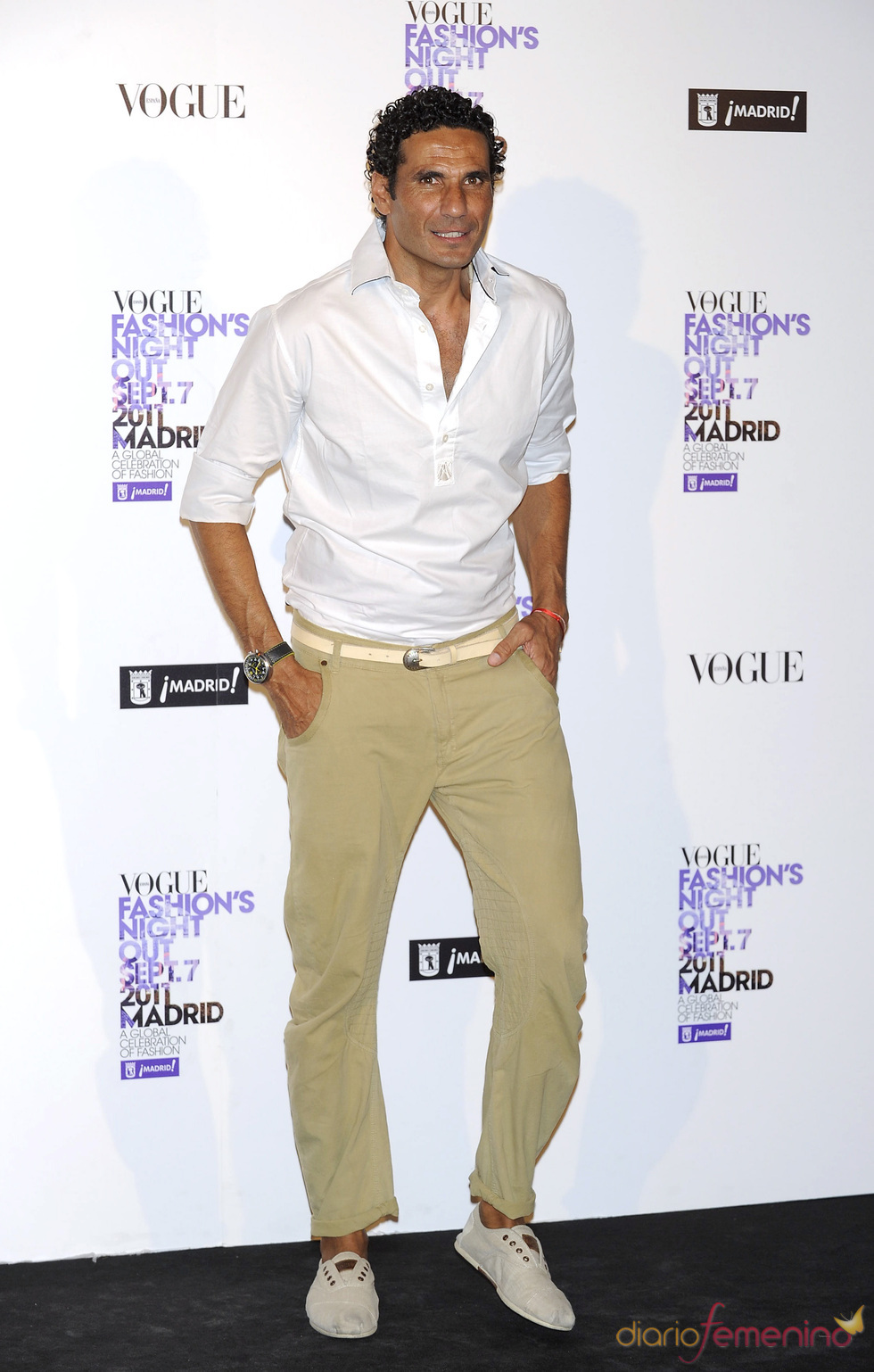 Óscar Higares durante la Vogue Fashion Night Out Madrid 2011