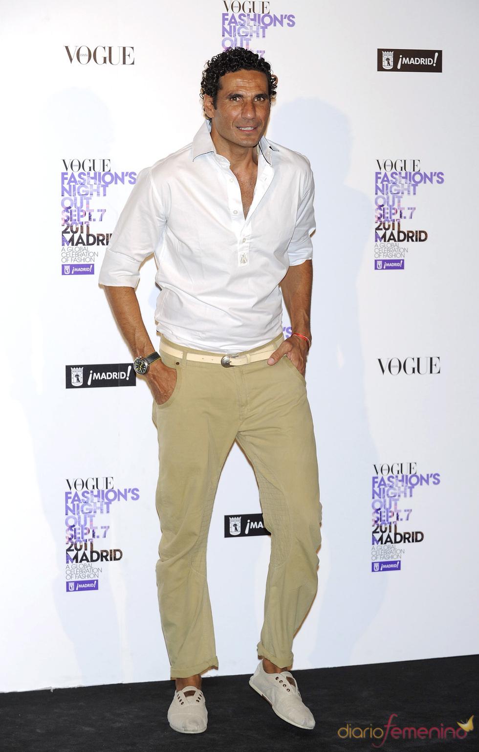 Óscar Higares durante la Vogue Fashion Night Out Madrid 2011