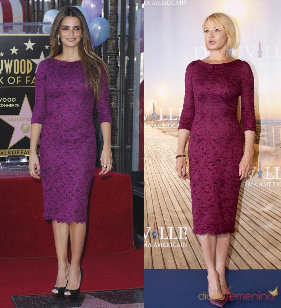 Penélope Cruz y Elle Bankin comparten el mismo 'look'