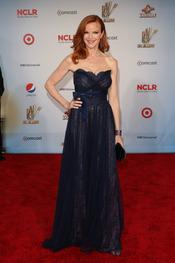 Marcia Cross desfila por la alfombra roja de los latinos 'premios Alma' 2011