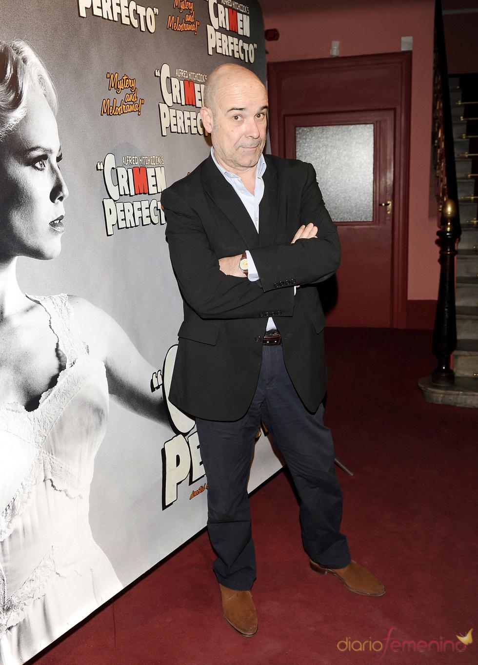 Antonio Resines en el estreno de 'Crimen perfecto' en Madrid