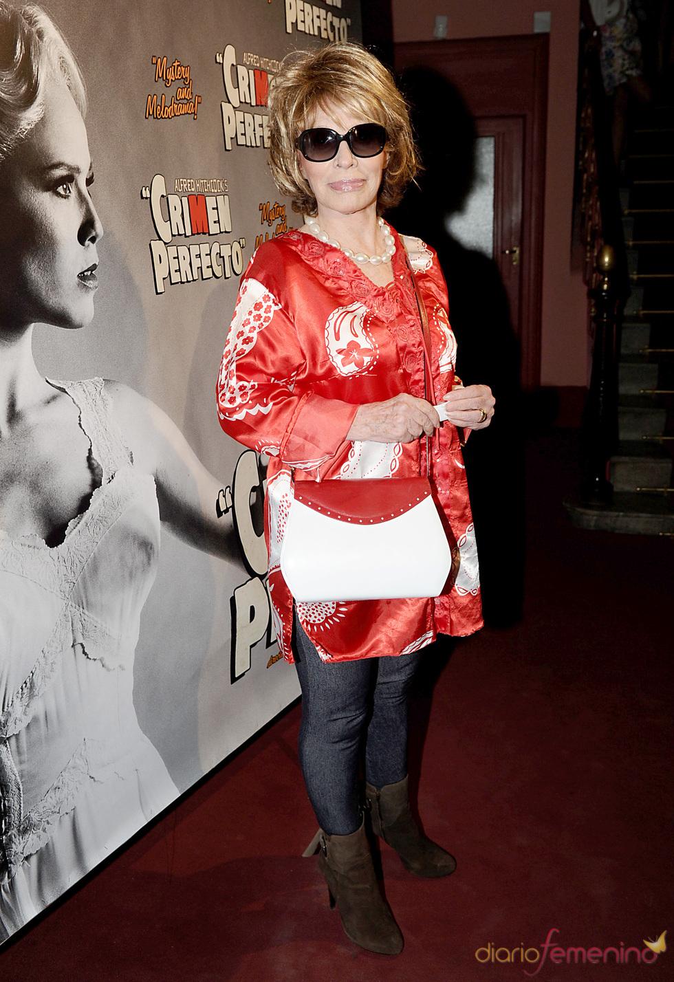 Encarnita Polo en el estreno de 'Crimen perfecto' en Madrid