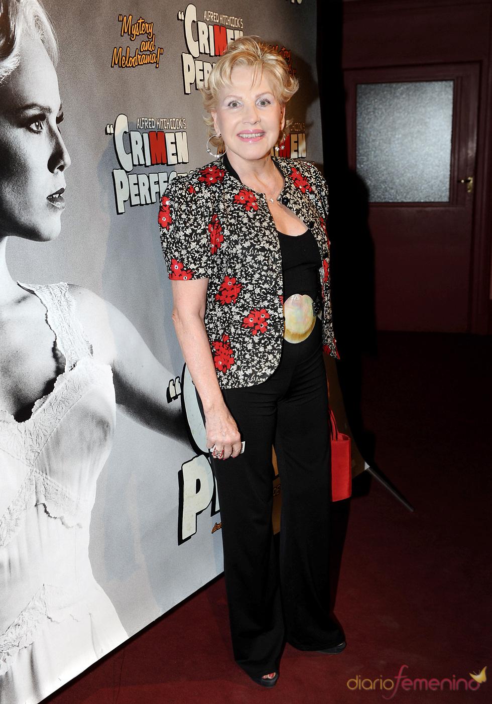 Marili Coll en el estreno de 'Crimen perfecto' en Madrid