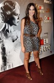 Almudena Cid en el estreno de 'Crimen perfecto' en Madrid