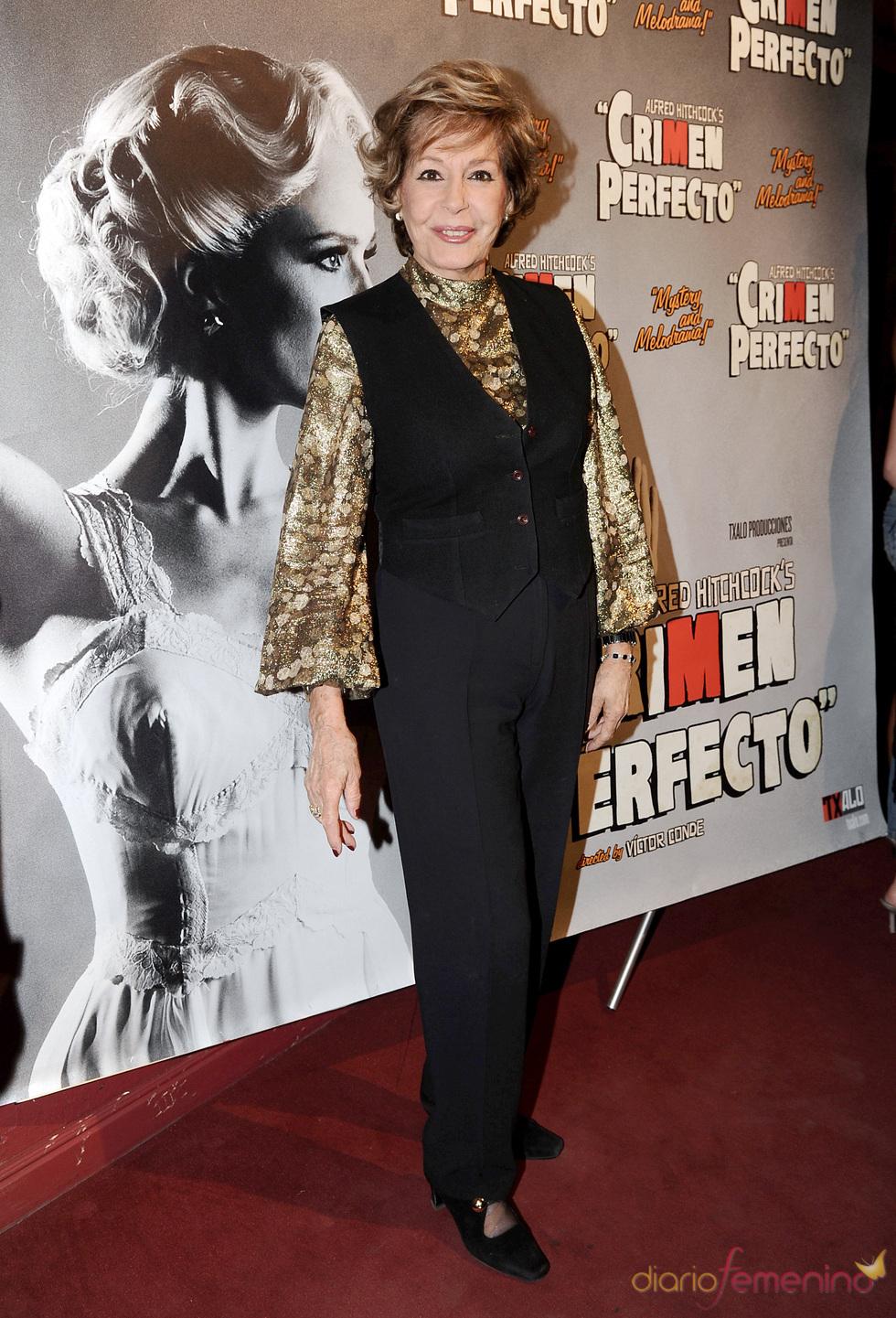 Laura Valenzuela en el estreno de 'Crimen perfecto' en Madrid