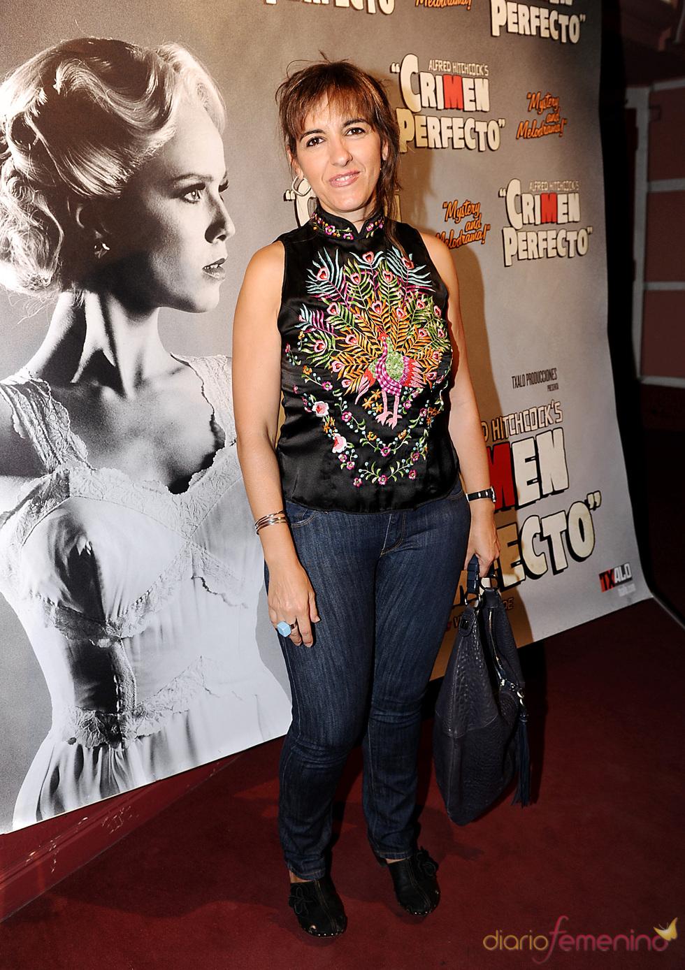 Llum Barrera en el estreno de 'Crimen perfecto' en Madrid