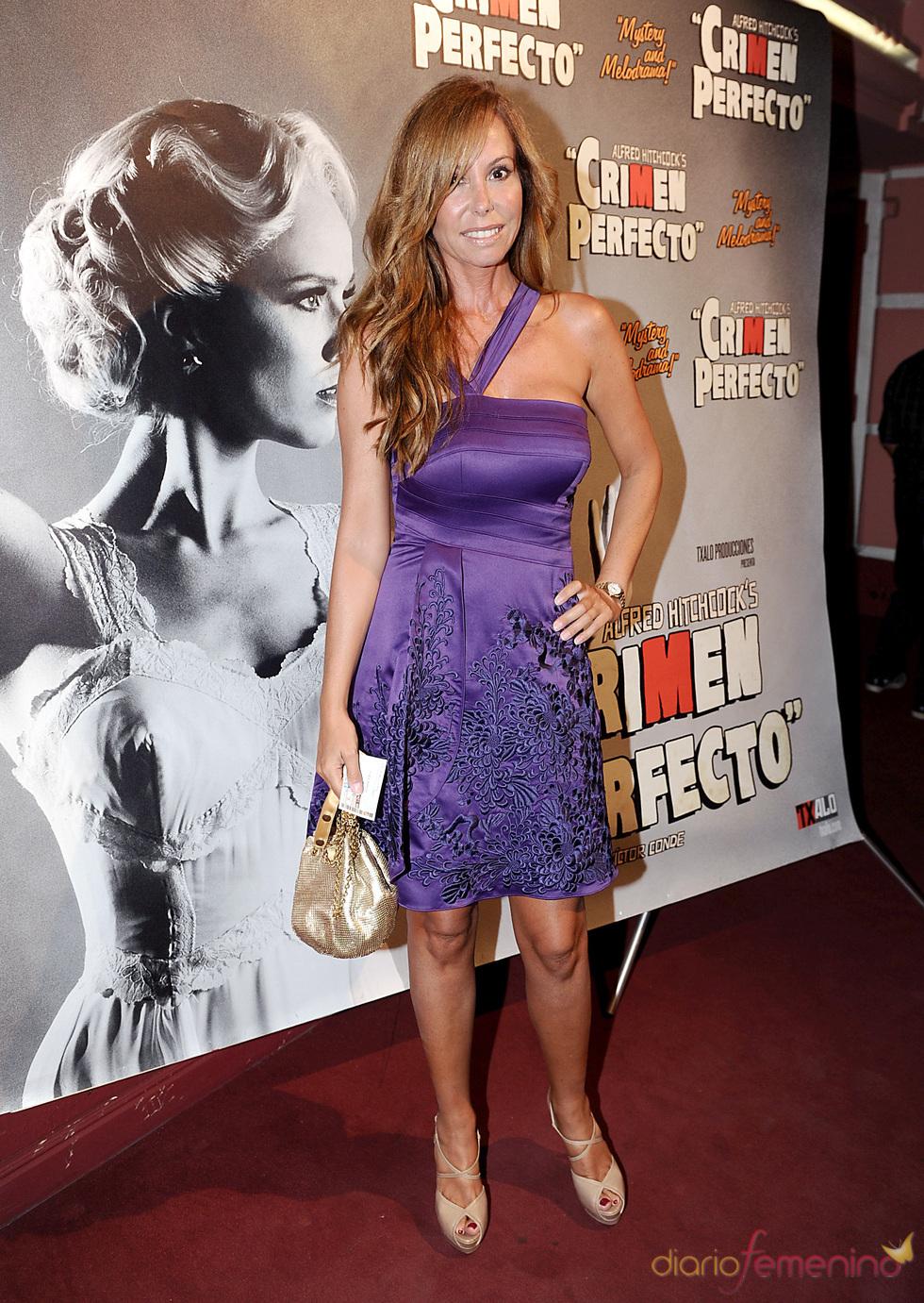 Lara Dibildos en el estreno de 'Crimen perfecto' en Madrid