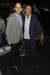 Modesto Lomba y Francis Montesinos en la Pasarela Cibeles 2011 en Madrid