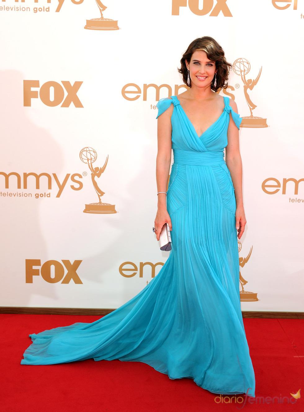 Cobie Smulders en la alfombra roja de los Emmy 2011