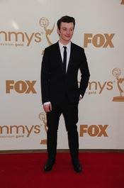 Chris Colfer en la alfombra roja de los Emmy 2011