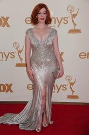 Christina Hendricks en la alfombra roja de los Emmy 2011