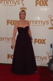 Jane Lynch en la alfombra roja de los Emmy 2011