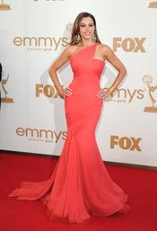 Sofía Vergara en la alfombra roja de los Emmy 2011