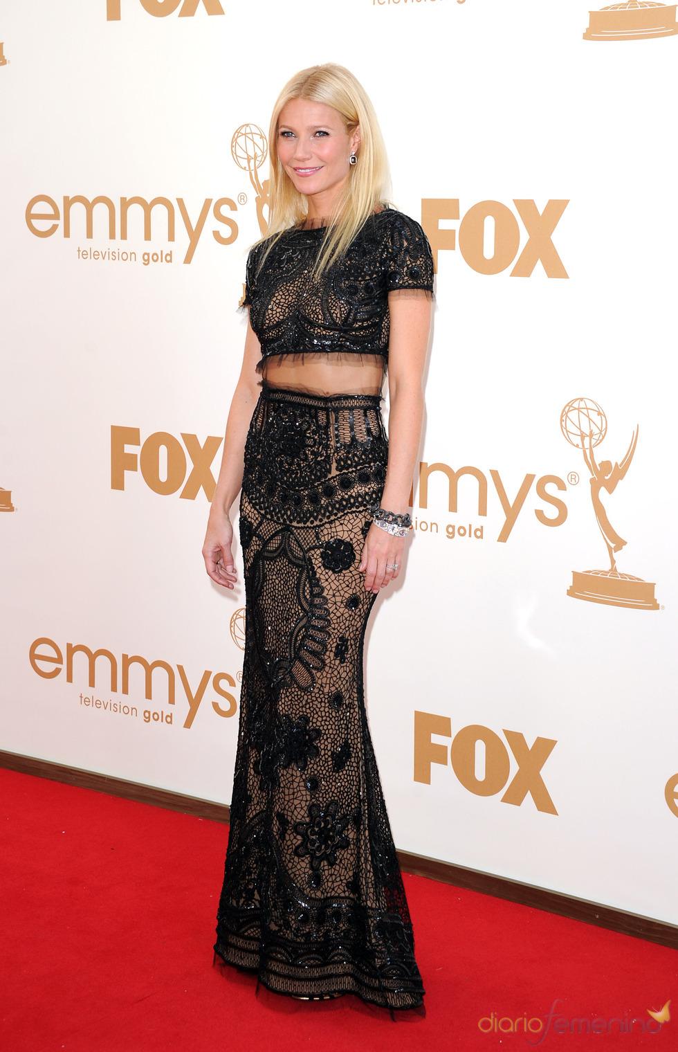 Gwyneth Paltrow en la alfombra roja de los Emmy 2011
