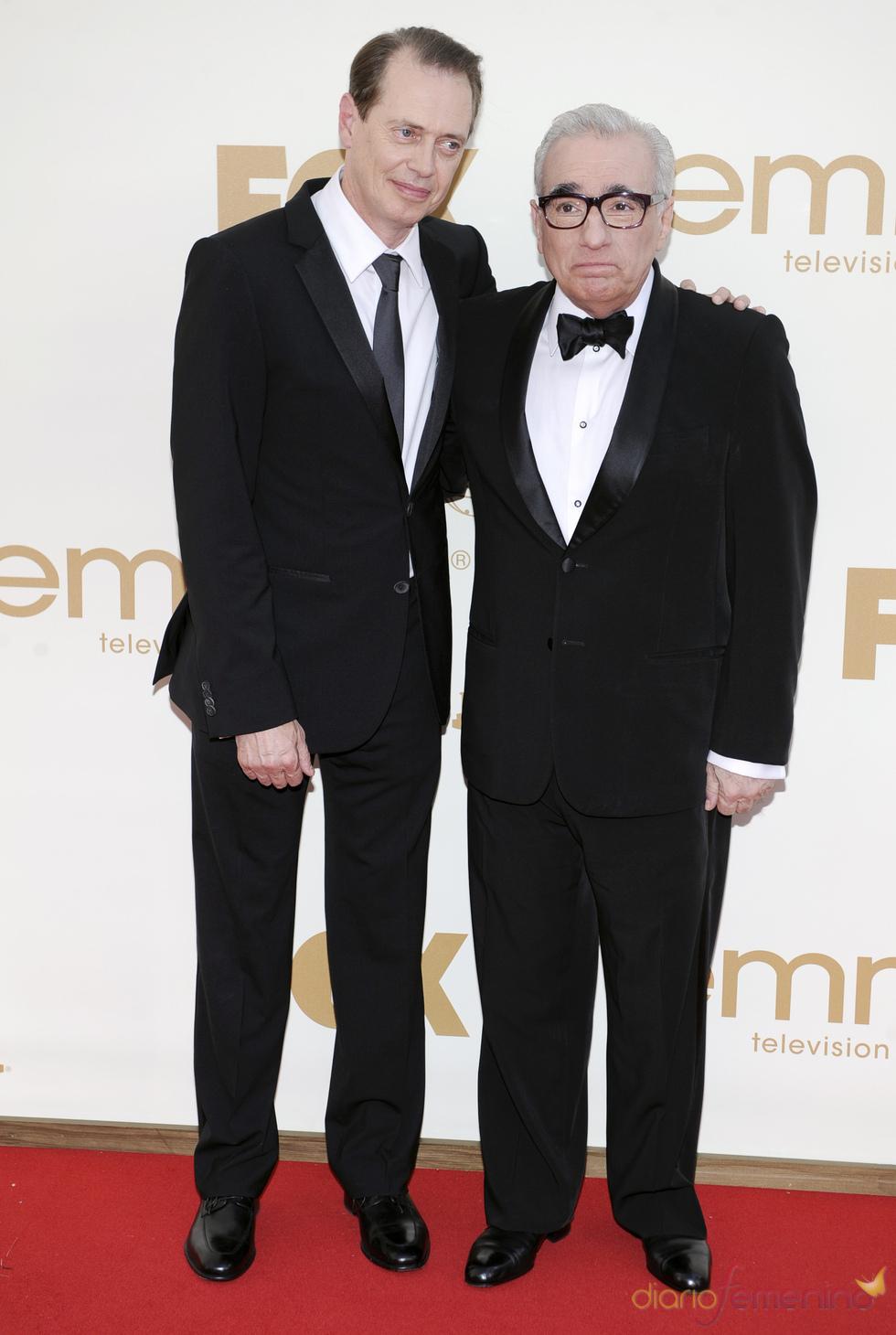 Steve Buscemi y Martin Scorsese en la alfombra roja de los Emmy 2011