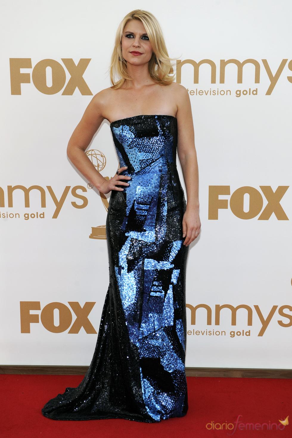 Claire Danes en la alfombra roja de los Emmy 2011