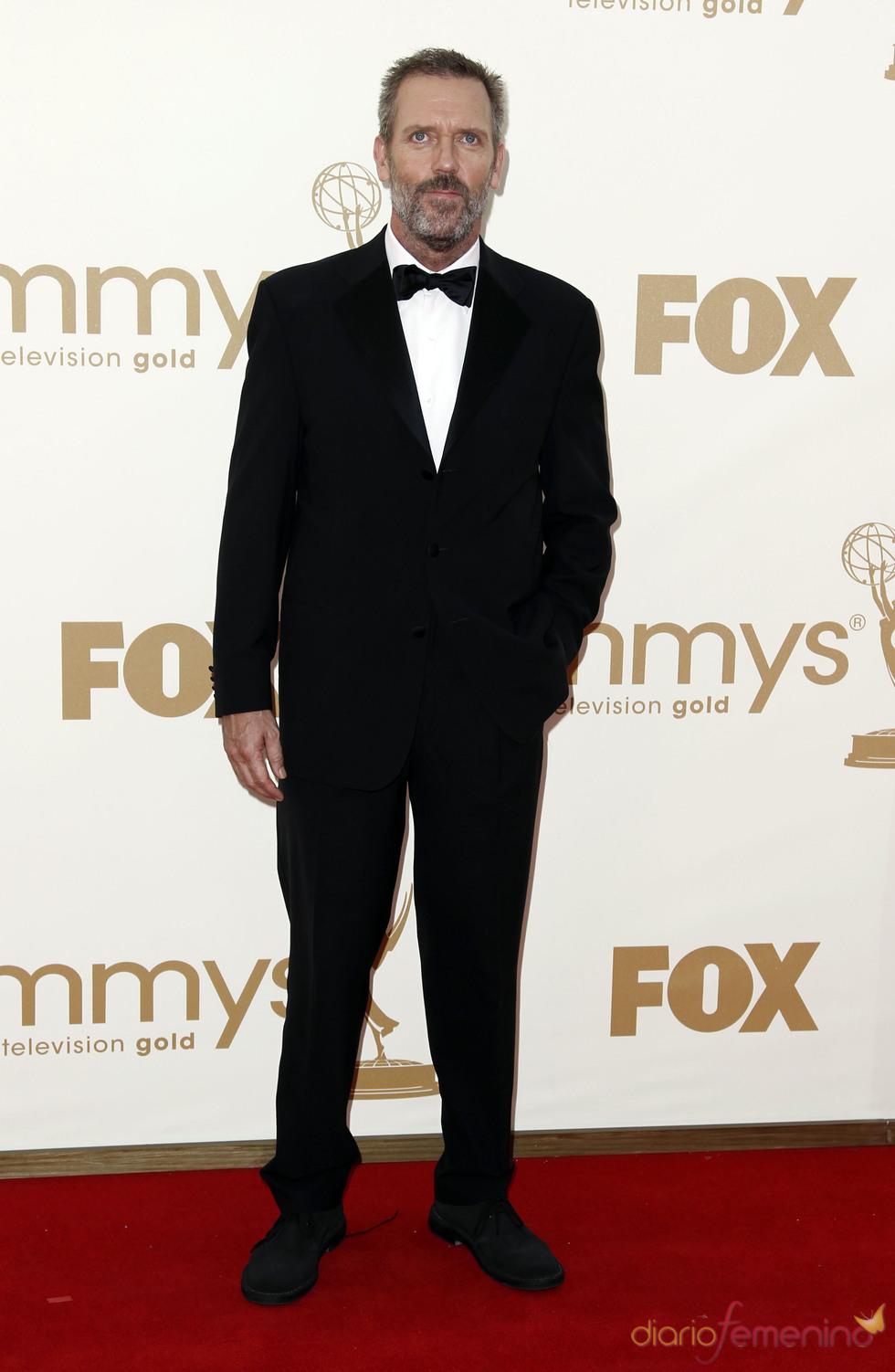 Hugh Laurie en la alfombra roja de los Emmy 2011