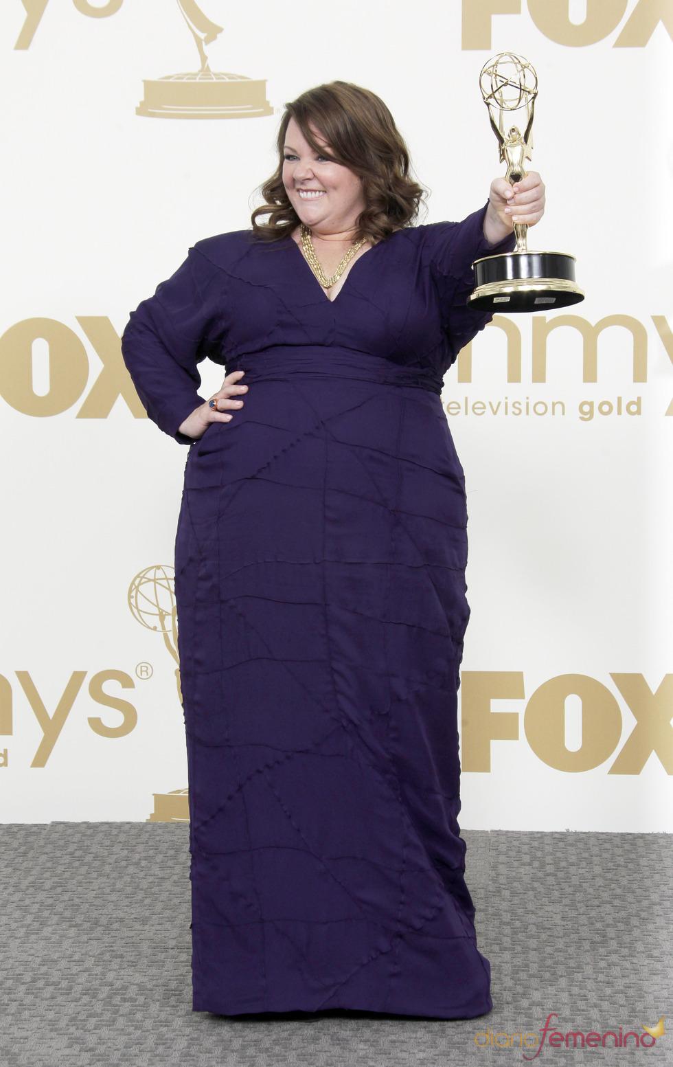 Melissa McCarthy en la alfombra roja de los Emmy 2011