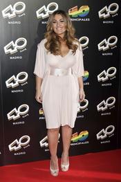 Amaia Montero en la inauguración del '40 Café' en Madrid